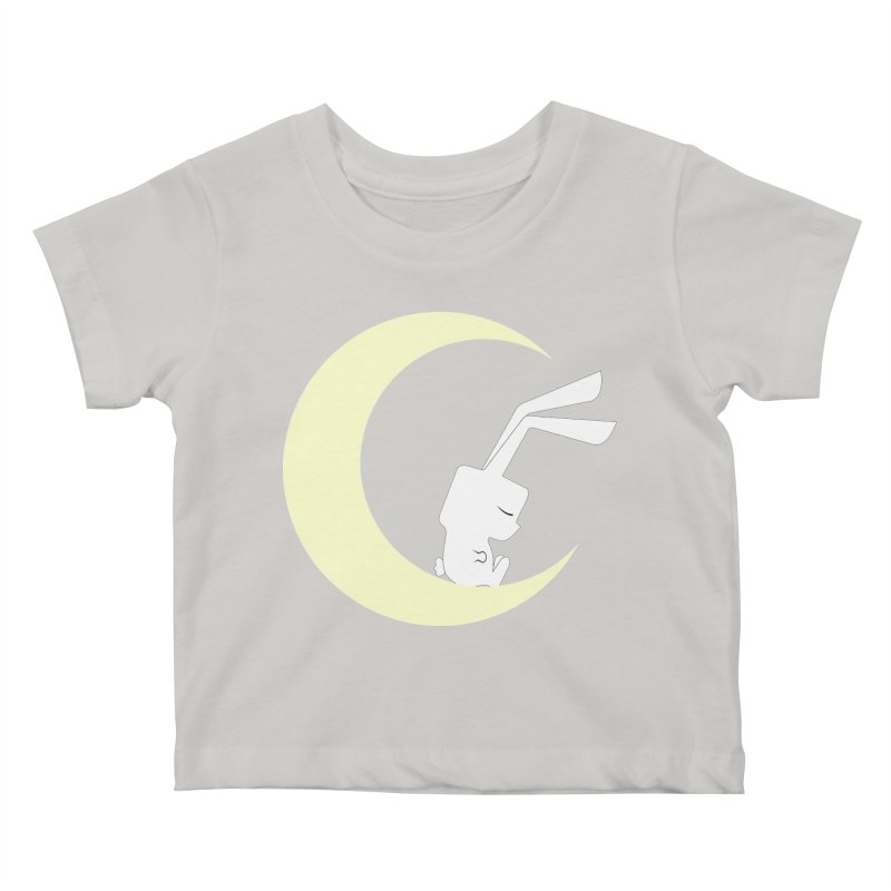 On the moon Kids Baby T-Shirt by 1001 bunnies