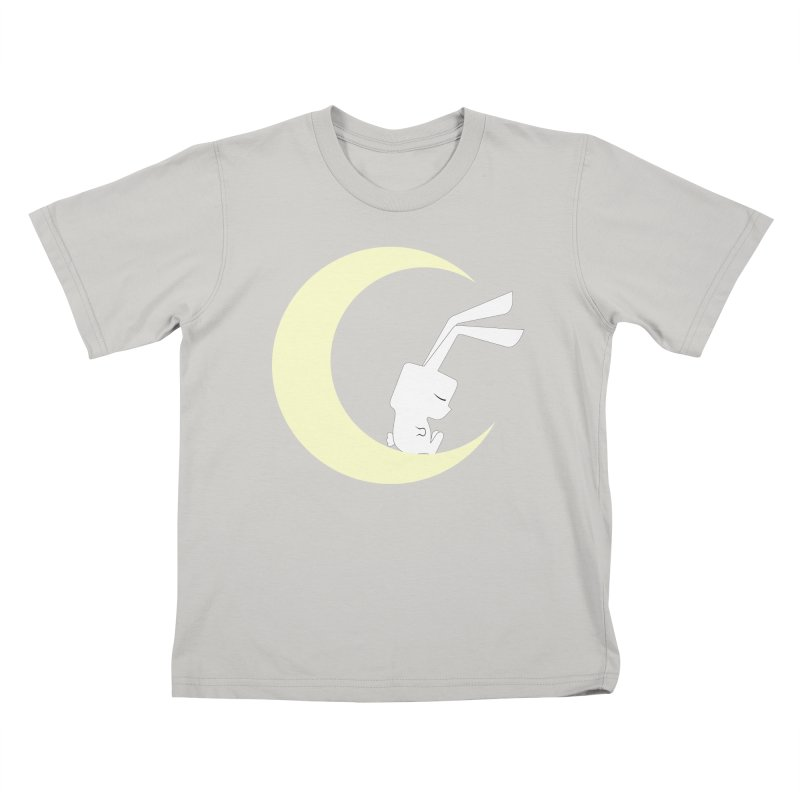 On the moon Kids T-shirt by 1001 bunnies