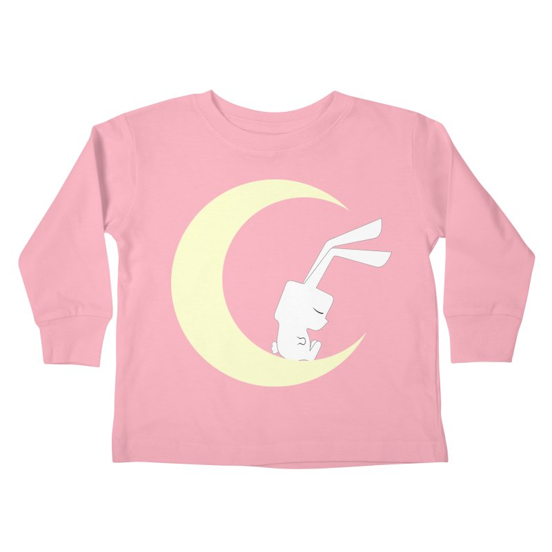 On the moon Kids Toddler Longsleeve T-Shirt by 1001 bunnies