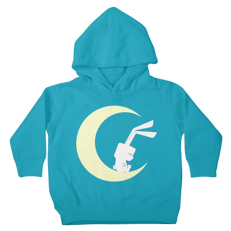 On the moon Kids Toddler Pullover Hoody by 1001 bunnies