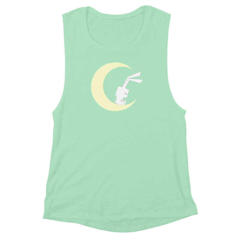 On the moon Women's Muscle Tank by 1001 bunnies