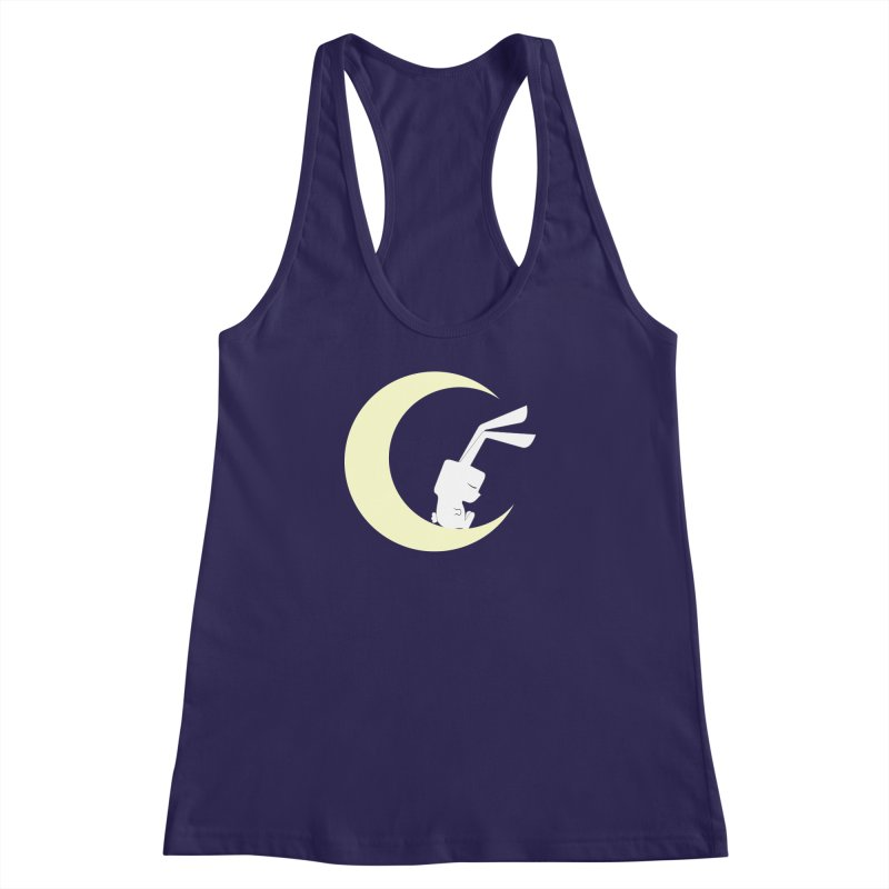 On the moon Women's Racerback Tank by 1001 bunnies