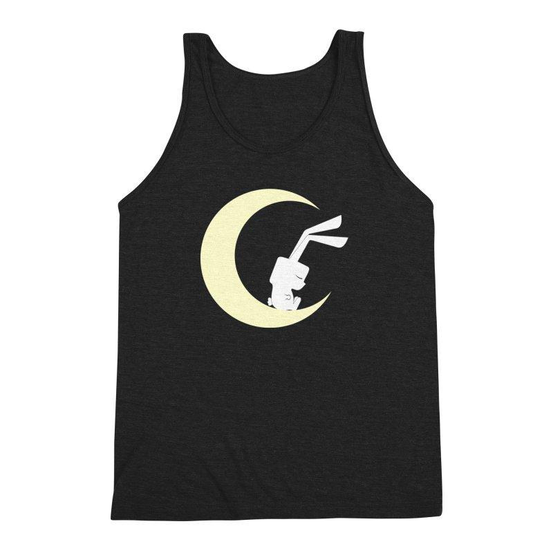 On the moon Men's Triblend Tank by 1001 bunnies
