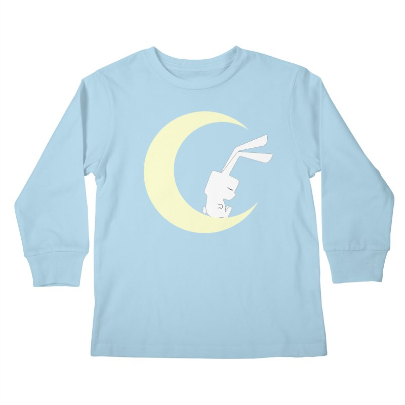 On the moon Kids Longsleeve T-Shirt by 1001 bunnies