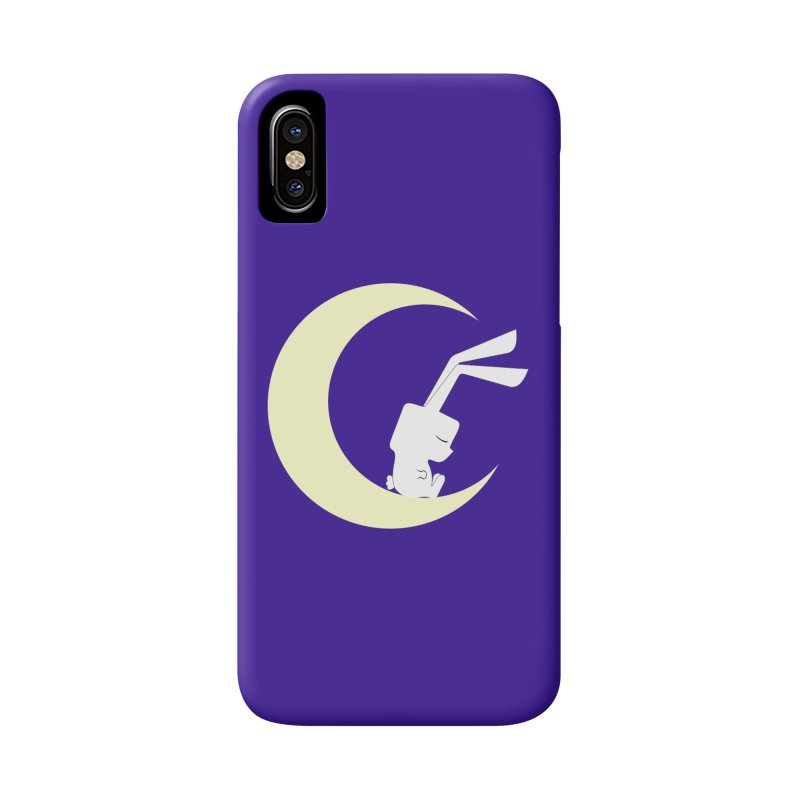 On the moon Accessories Phone Case by 1001 bunnies
