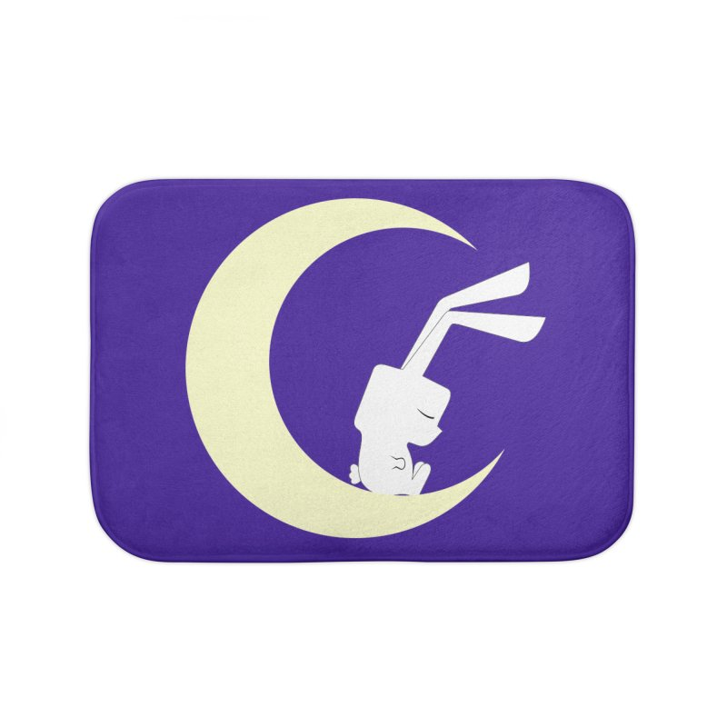 On the moon Home Bath Mat by 1001 bunnies