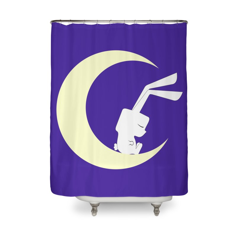 On the moon Home Shower Curtain by 1001 bunnies