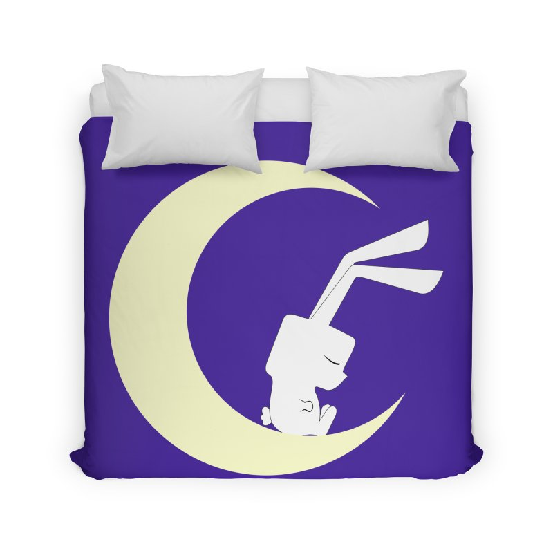 On the moon Home Duvet by 1001 bunnies