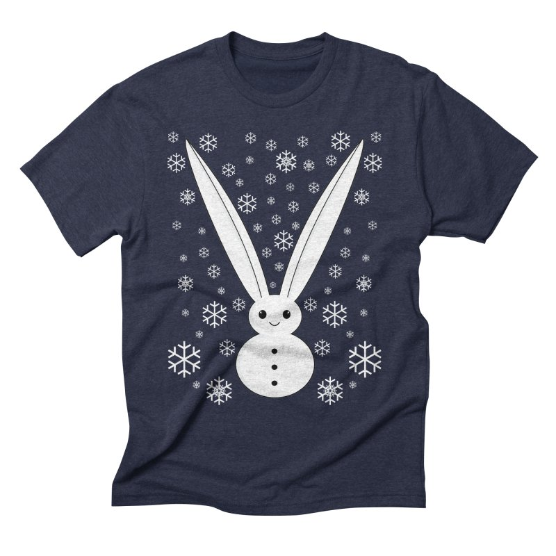 Snow bunny Men's Triblend T-shirt by 1001 bunnies