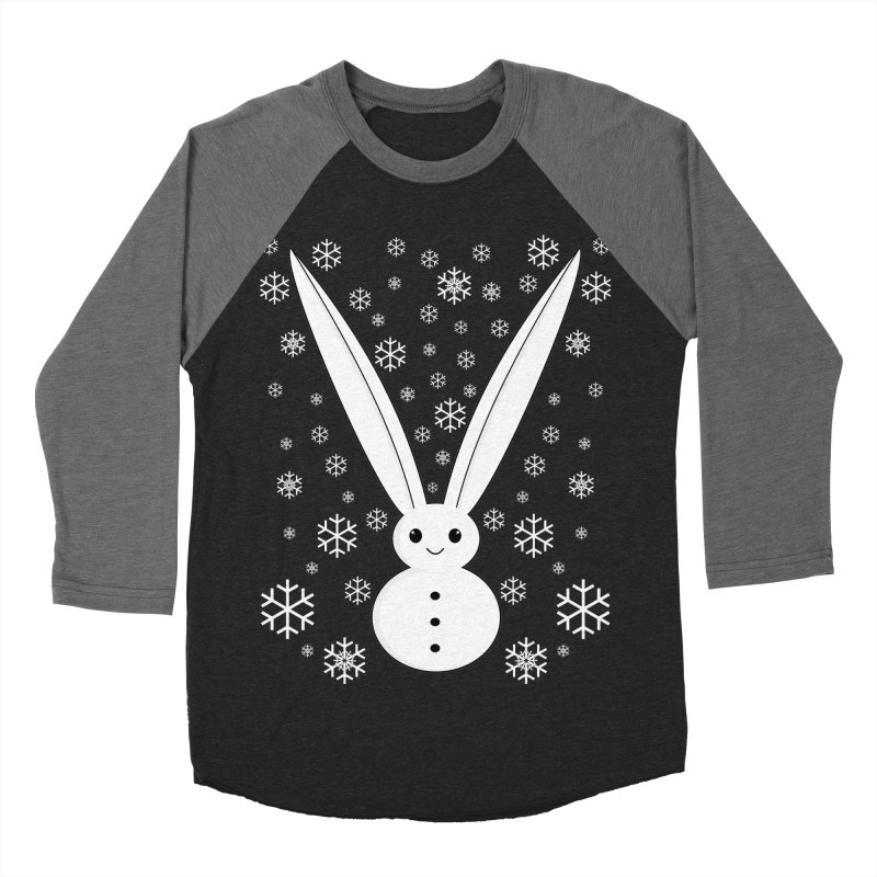 Snow bunny Men's Baseball Triblend T-Shirt by 1001 bunnies