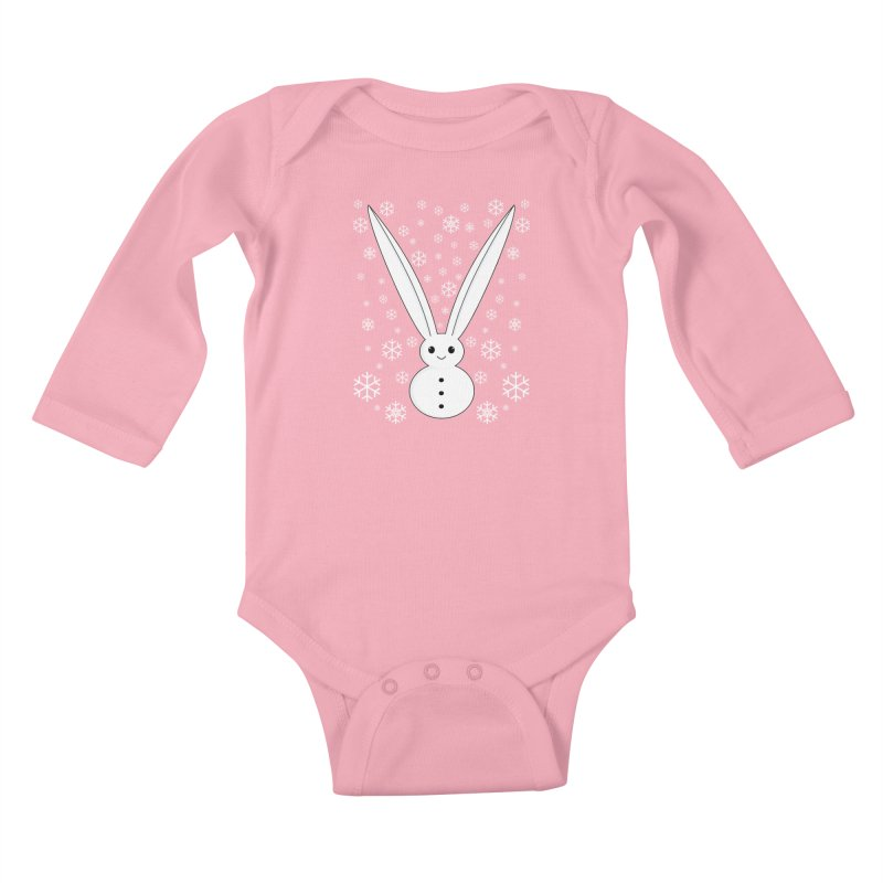 Snow bunny Kids Baby Longsleeve Bodysuit by 1001 bunnies