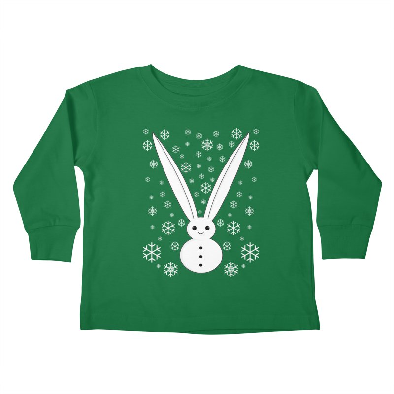 Snow bunny Kids Toddler Longsleeve T-Shirt by 1001 bunnies