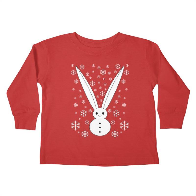Snow bunny Kids Toddler Longsleeve T-Shirt by 1001 bunnies