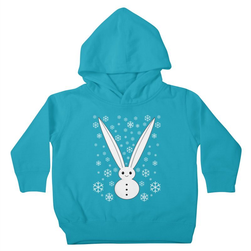 Snow bunny Kids Toddler Pullover Hoody by 1001 bunnies