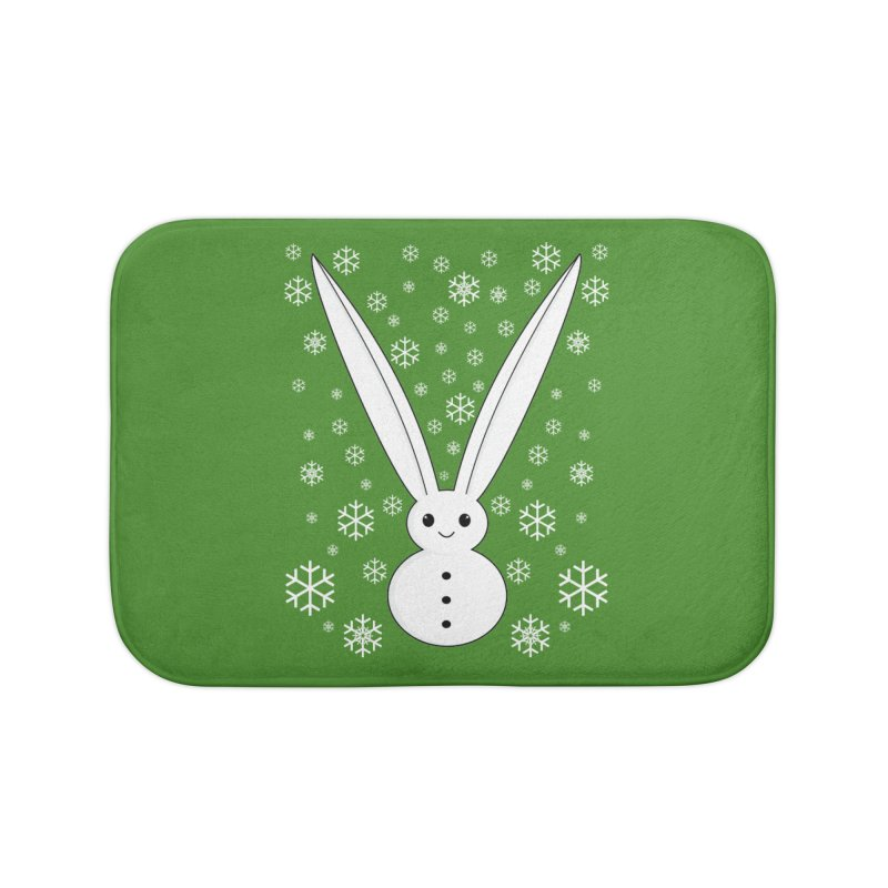 Snow bunny Home Bath Mat by 1001 bunnies