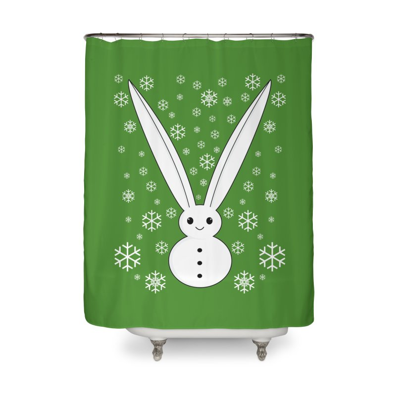 Snow bunny Home Shower Curtain by 1001 bunnies
