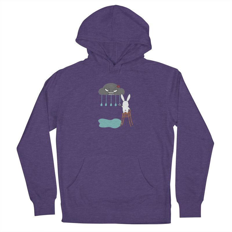 Stopping the rain Men's Pullover Hoody by 1001 bunnies