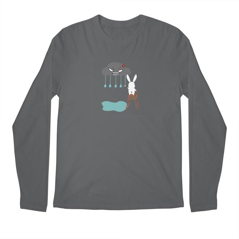 Stopping the rain Men's Longsleeve T-Shirt by 1001 bunnies
