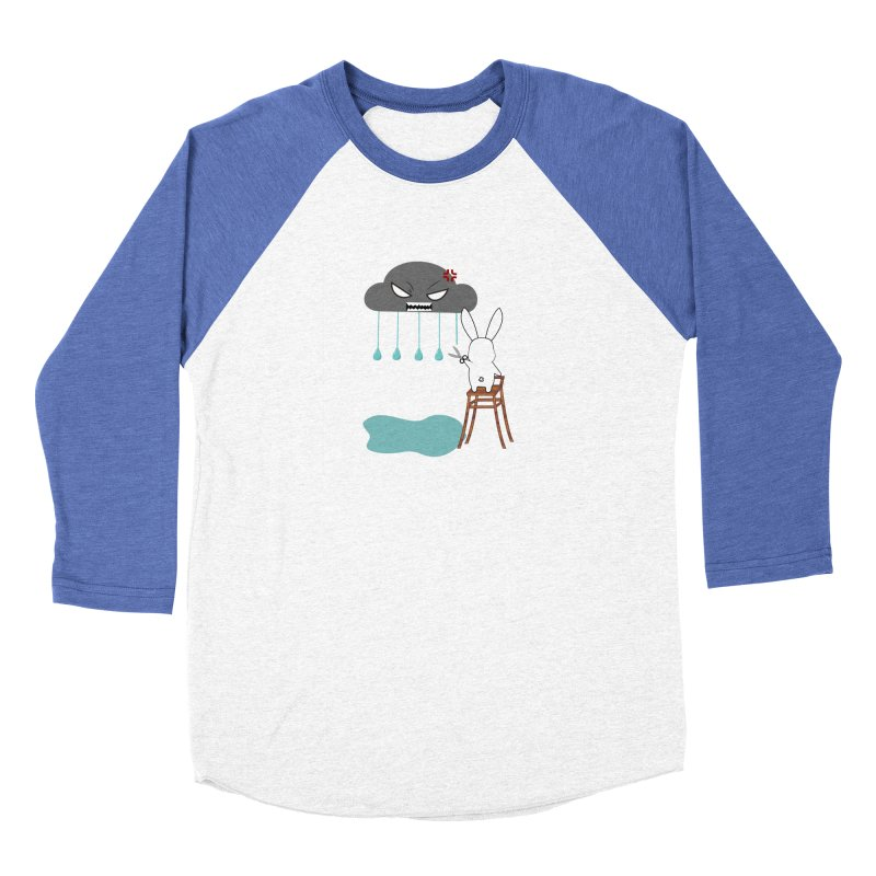 Stopping the rain Men's Baseball Triblend T-Shirt by 1001 bunnies