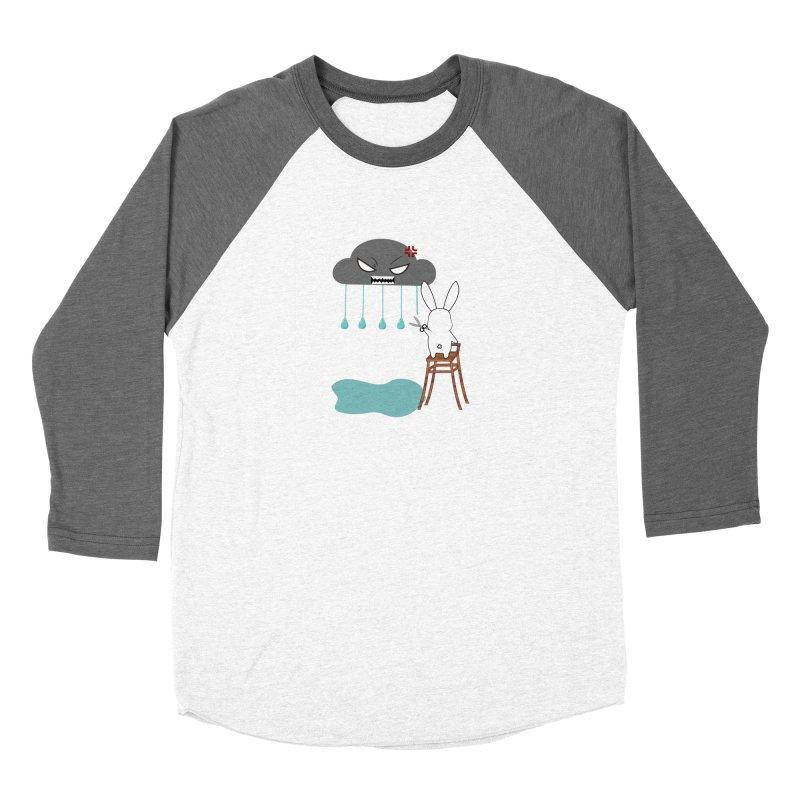 Stopping the rain Men's Baseball Triblend T-Shirt by 1001 bunnies