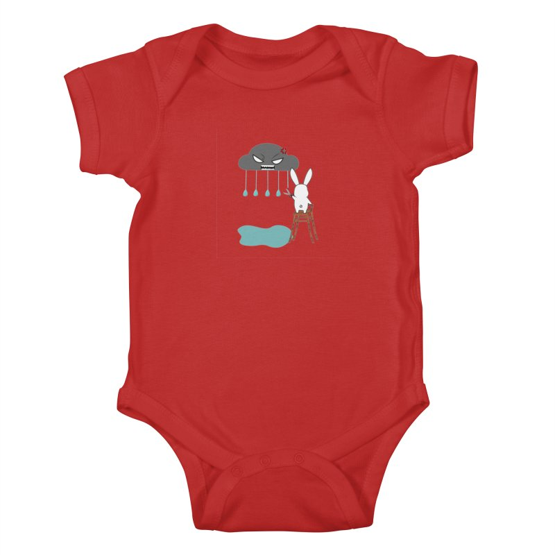 Stopping the rain Kids Baby Bodysuit by 1001 bunnies