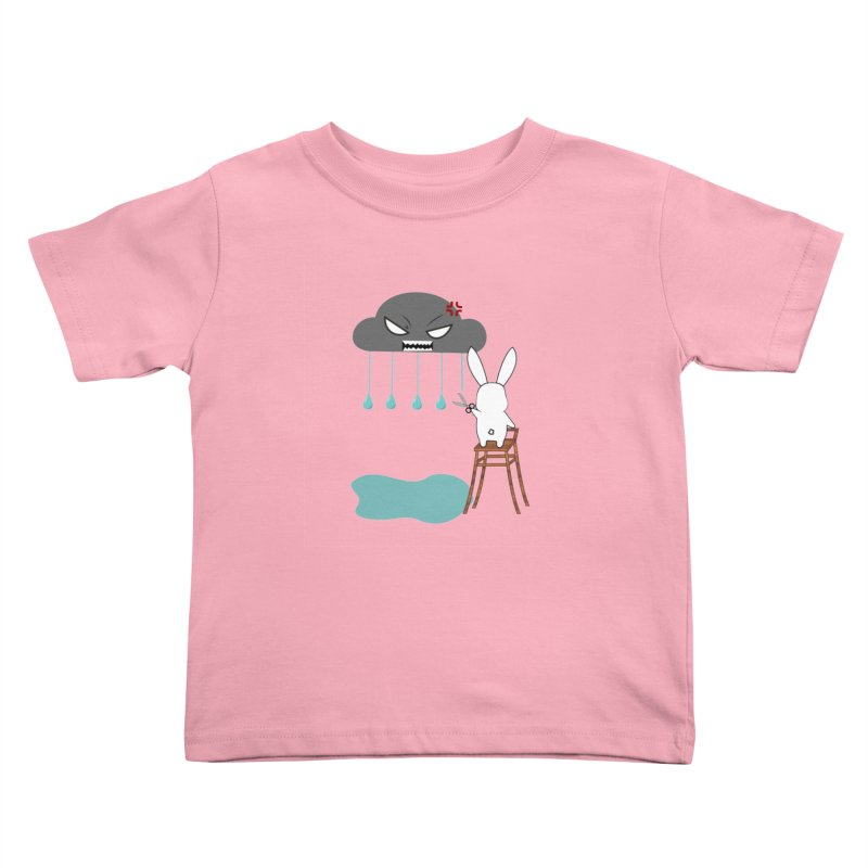 Stopping the rain Kids Toddler T-Shirt by 1001 bunnies