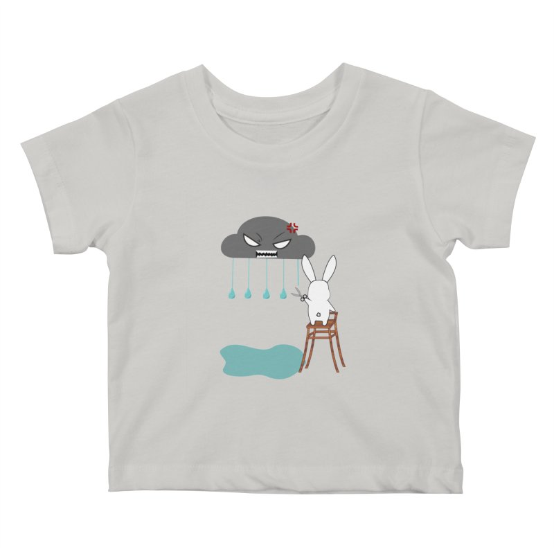 Stopping the rain Kids Baby T-Shirt by 1001 bunnies