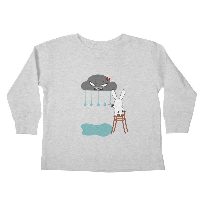 Stopping the rain Kids Toddler Longsleeve T-Shirt by 1001 bunnies