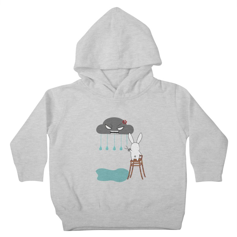 Stopping the rain Kids Toddler Pullover Hoody by 1001 bunnies