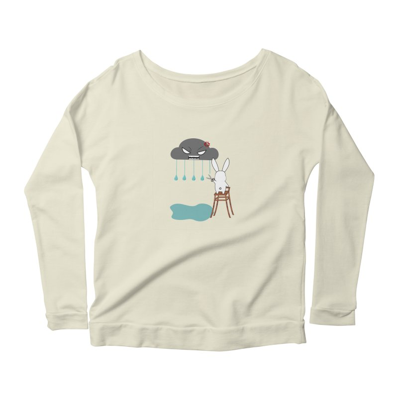 Stopping the rain Women's Longsleeve Scoopneck  by 1001 bunnies