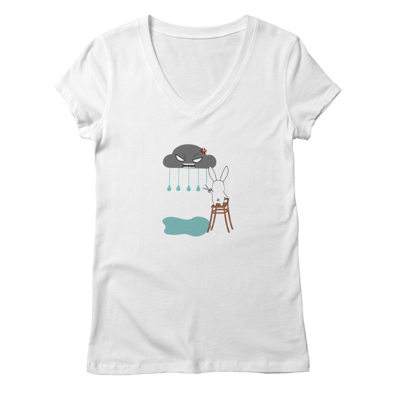 Stopping the rain Women's V-Neck by 1001 bunnies