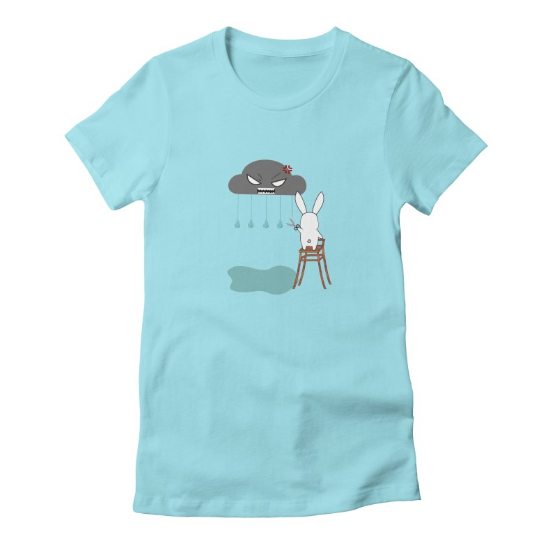 Stopping the rain Women's Fitted T-Shirt by 1001 bunnies