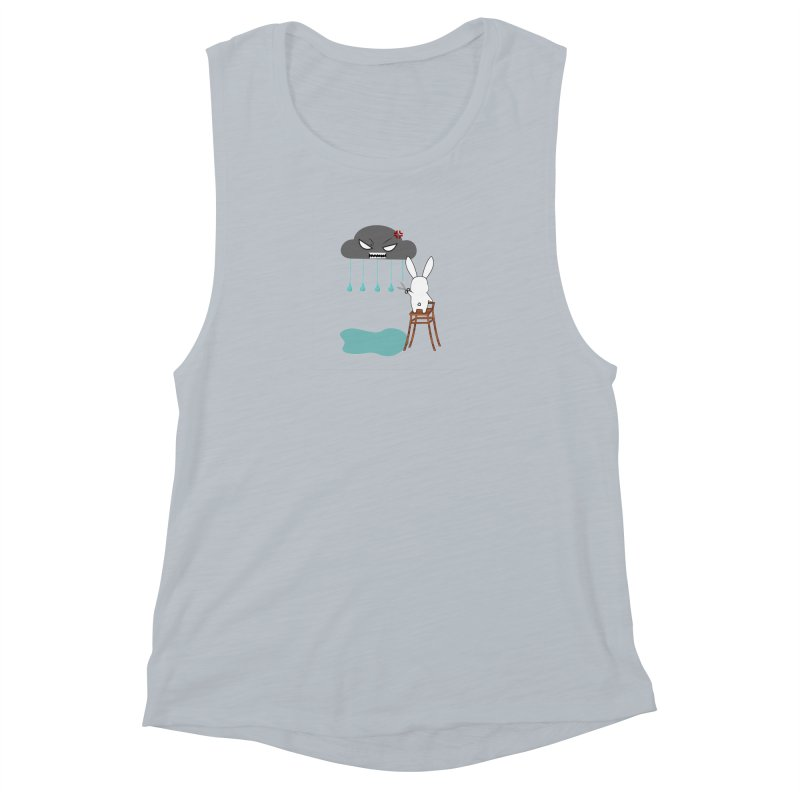Stopping the rain Women's Muscle Tank by 1001 bunnies