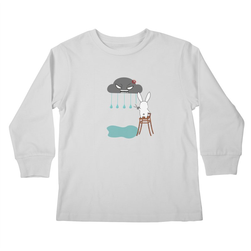 Stopping the rain Kids Longsleeve T-Shirt by 1001 bunnies