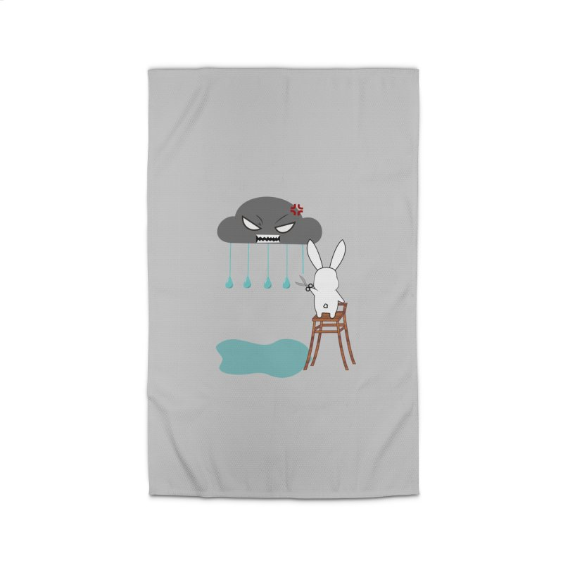 Stopping the rain Home Rug by 1001 bunnies