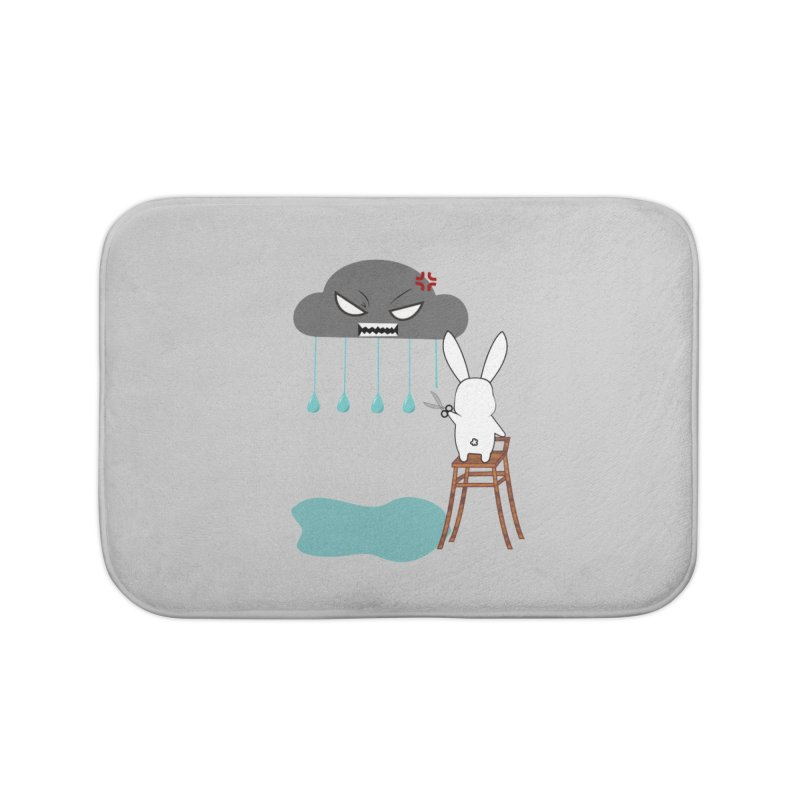 Stopping the rain Home Bath Mat by 1001 bunnies