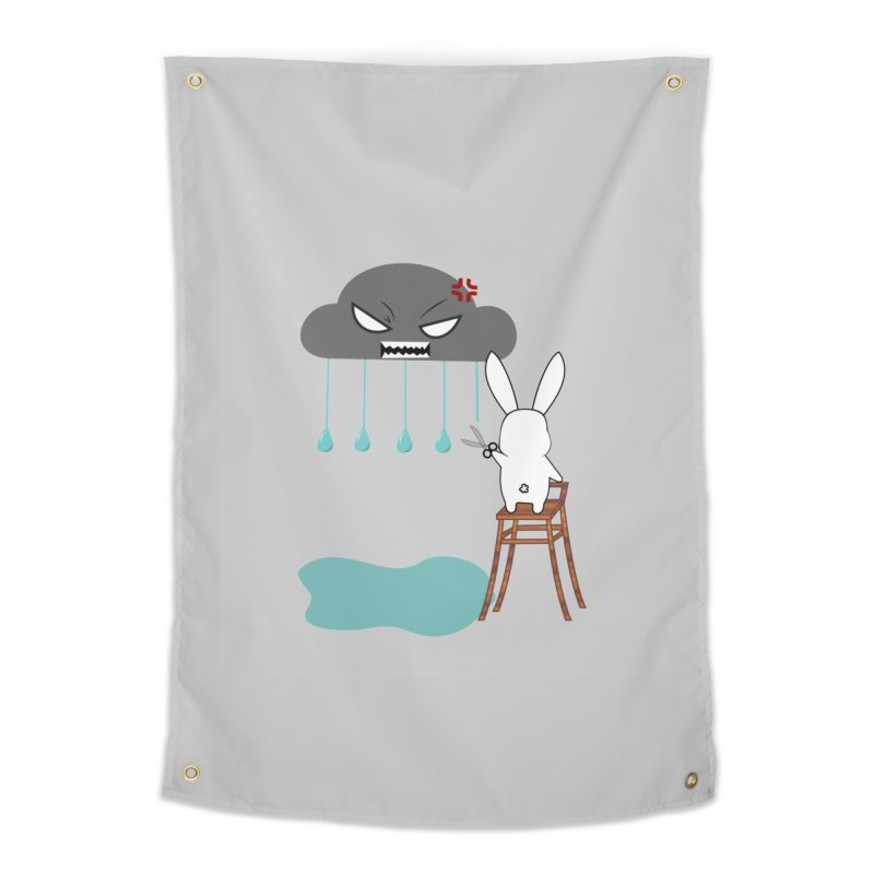 Stopping the rain Home Tapestry by 1001 bunnies