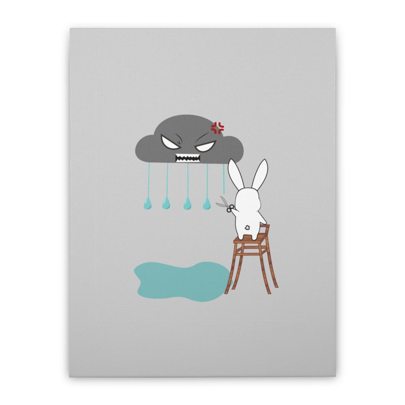 Stopping the rain Home Stretched Canvas by 1001 bunnies