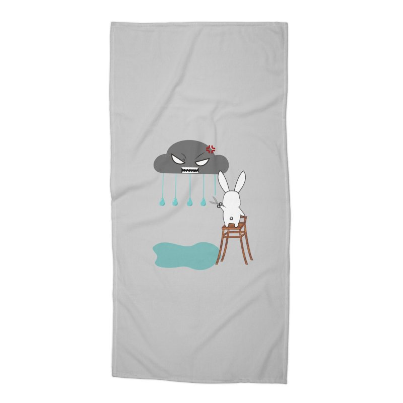 Stopping the rain Accessories Beach Towel by 1001 bunnies