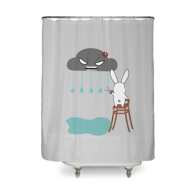 Stopping the rain Home Shower Curtain by 1001 bunnies