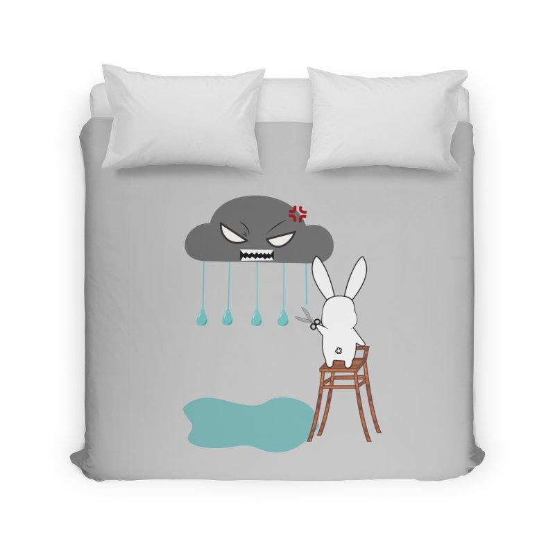 Stopping the rain Home Duvet by 1001 bunnies
