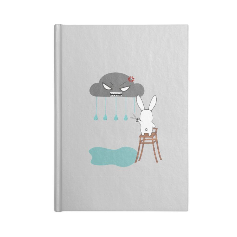 Stopping the rain Accessories Notebook by 1001 bunnies