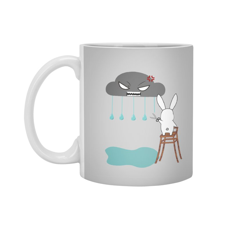 Stopping the rain Accessories Mug by 1001 bunnies