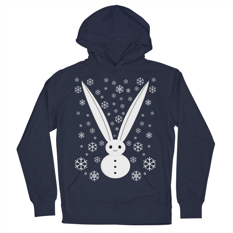 Snow bunny  Men's Pullover Hoody by 1001 bunnies