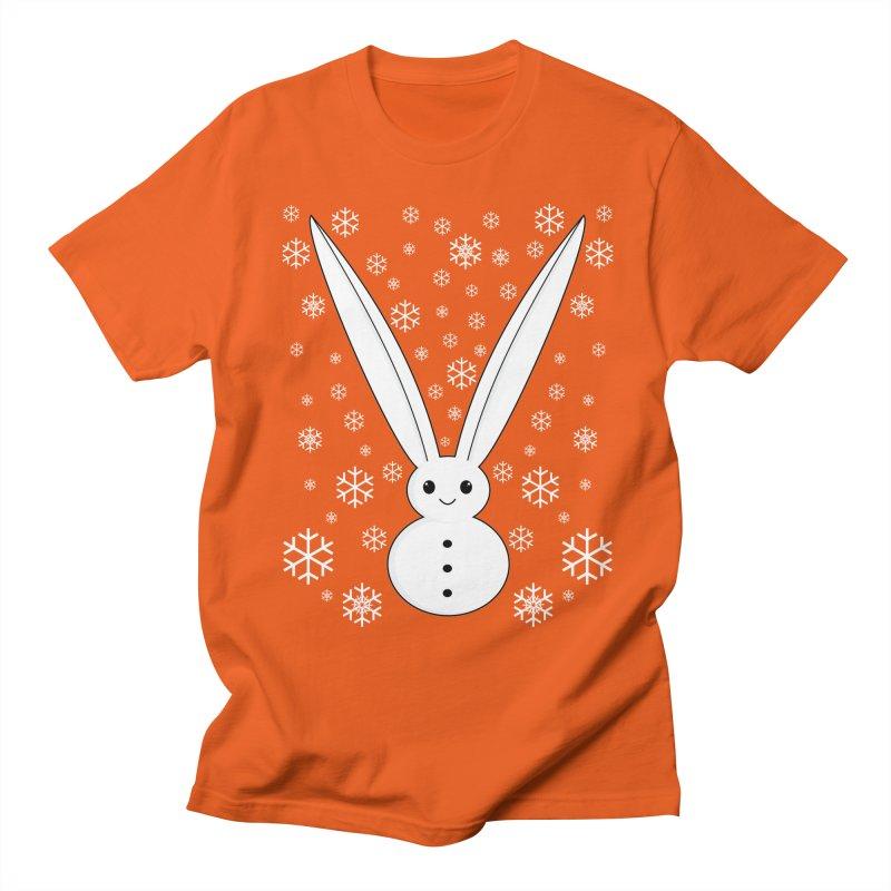 Snow bunny  Women's Unisex T-Shirt by 1001 bunnies