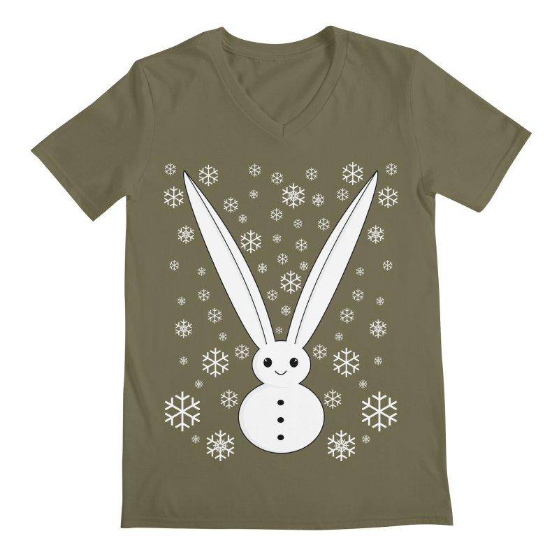 Snow bunny  Men's V-Neck by 1001 bunnies
