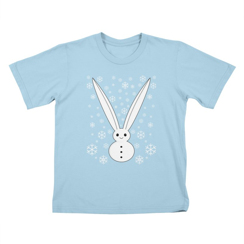 Snow bunny  Kids T-Shirt by 1001 bunnies