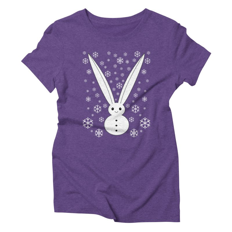 Snow bunny  Women's Triblend T-shirt by 1001 bunnies