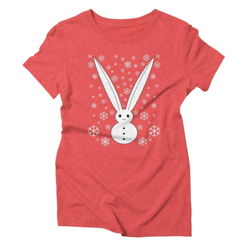 Snow bunny  Women's Triblend T-shirt by 1001 bunnies
