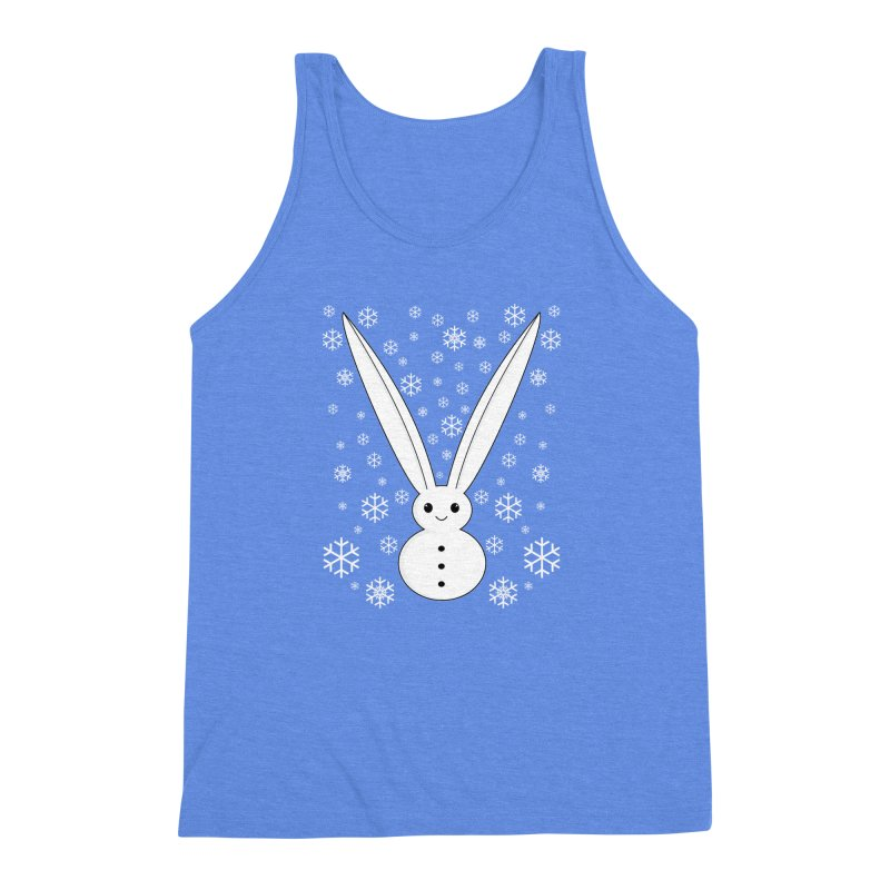 Snow bunny  Men's Triblend Tank by 1001 bunnies